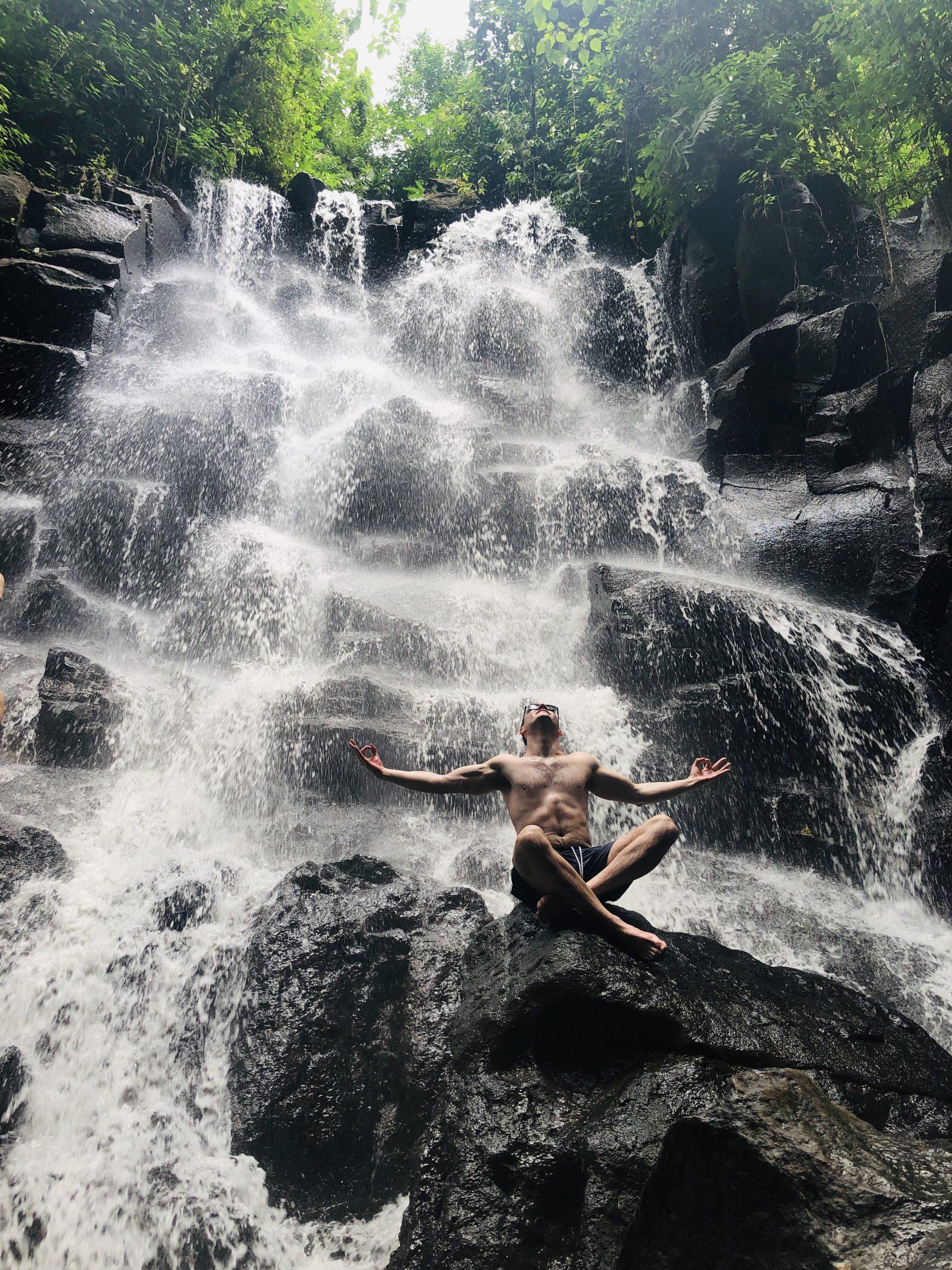 Meditation Balance Wasserfall