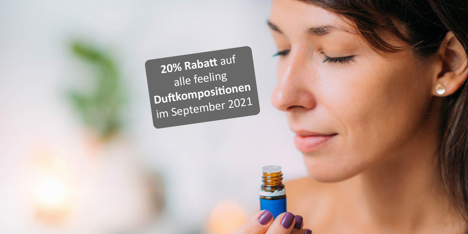 20 Rabatt auf feeling Duftmischungen
